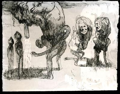 """""""Cada qual com sua quimera""""   """"Sob um grande céu cinzento, em uma grande planície sem sendas, sem relva, sem um cardo, sem uma urtiga, encontrei vários homens que caminhavam encurvados.  """"Cada um deles carregava nas costas uma enorme Quimera, tão pesada quanto um saco de farinha ou carvão, ou a mochila de soldados da infantaria romana.  """"Mas o monstruoso animal não era um peso morto; ao contrário, ele cingia e oprimia o homem com seus músculos elásticos e poderosos. Ele atrelava-se ao peito de sua montaria com suas duas grandes garras, e sua cabeça fabulosa elevava-se acima da fronte do homem, como um desses horrendos capacetes com os quais os antigos guerreiros pretendiam ampliar o terror do inimigo.  """"Interroguei um desses homens, perguntando-lhe para onde ia daquele modo. Ele disse que não sabia; nem os demais. Mas, obviamente, eles iam a algum lugar, porquanto eram impelidos por uma necessidade invencível de andar.  """"Observação curiosa: nenhum daqueles viajantes parecia irritar-se com a besta feroz pendurada em seu pescoço e agarrada às suas costas. Poderíamos dizer que eles as consideravam partes de si mesmos. Todos esses rostos cansados e circunspectos não exibiam qualquer desespero. Sob a cúpula melancólica do céu, os pés imersos na poeira do chão tão desolado quanto aquele firmamento, caminhavam com o semblante resignado dos que foram condenados a esperar para sempre. E o séquito passou junto a mim e mergulhou na atmosfera do horizonte, no ponto em que a superfície recurva do planeta se esquiva à curiosidade do olhar humano. E por uns instantes eu me obstinei em penetrar naquele mistério; mas logo uma indiferença irresistível caiu sobre mim e me quedei ainda mais pesadamente oprimido do que eles mesmos por suas esmagadoras Quimeras."""" Charles Baudelaire   Charles-Pierre Baudelaire (1821-1867) foi um poeta boémio, dandy, flâneur e teórico da arte francesa. É considerado um dos precursores do simbolismo e reconhecido internacionalmente como o fundador da tradiç"""