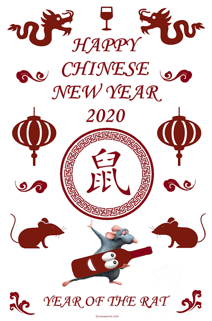 Happy Chinese New Year 2020 by ©LeDomduVin 2020  Remy from Ratatouille courtesy of Disney-Pixar