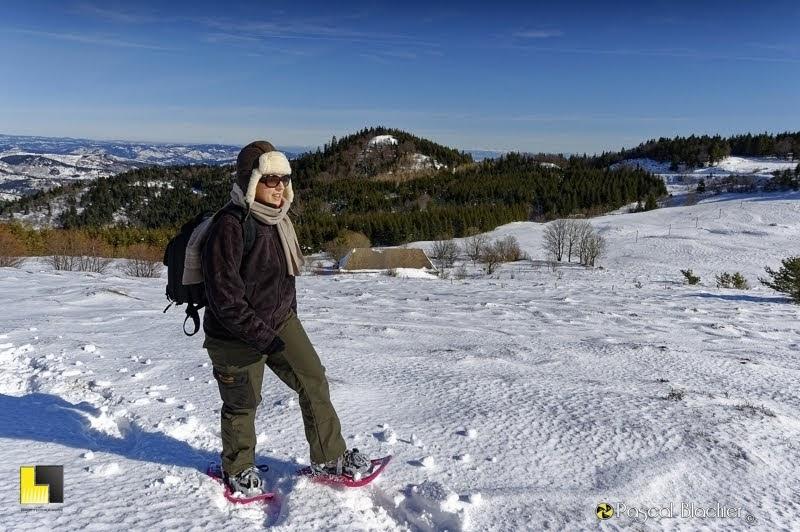 au dela du cliché en raquettes à neige au gerbier de jonc photo Pascal Blachier