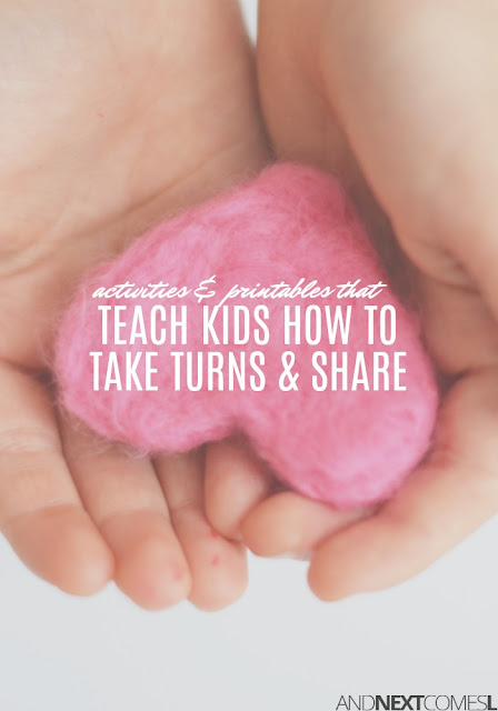 Turn taking activities & ideas for teaching kids how to share