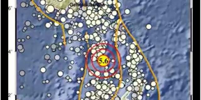 Sulawesi Utara Diguncang Gempa M 5,6