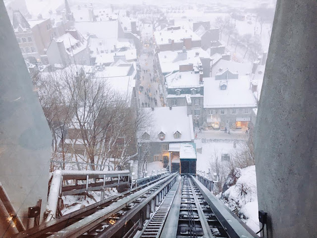 Funiculaire in Québec City, Canada