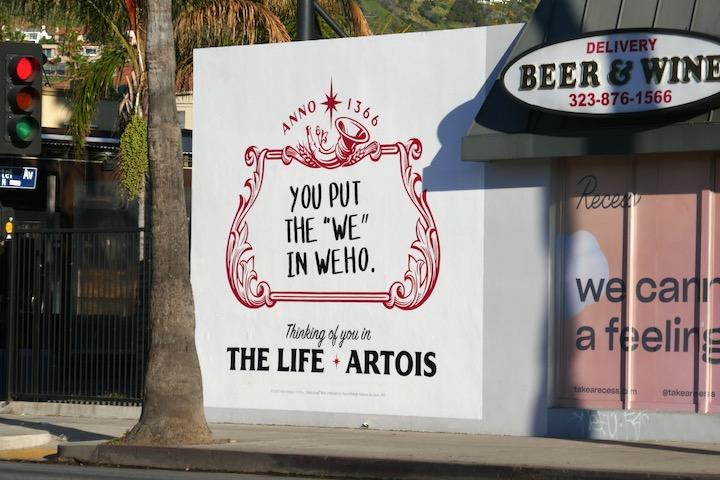 put we in WEHO Life Stella Artois billboard