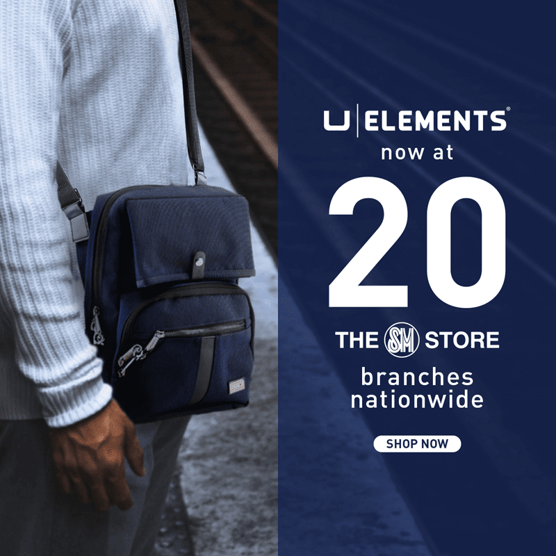U Elements bags are now available in 20 branches of SM stores nationwide!