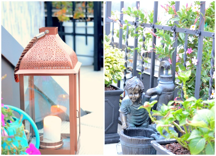 Penthouse Terrace Oasis Outdoor Lanterns + 10 Best Container Plants For Rooftop Gardening