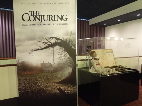 Conjuring film prop display