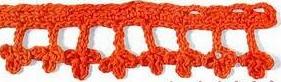 Patrón #1510: Encaje a Crochet