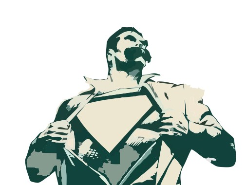 brand logo design super heroes