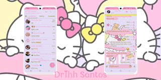 Hello Kitty 2 Theme For YOWhatsApp & Fouad WhatsApp By Driih Santos