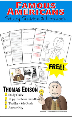 Study Guide - Using the Who Was Biography Series kids will earn about famous americans Albert Einstein Dr. Seuss George Washington Harriet Tubman Helen Keller Louis Armstrong Paul Revere Thomas Edison Thomas Jefferson. Includes coloring page, time line, lapbook, study guide, and so much more for homeschool 2nd grade, 3rd grade, 4th grade, 5th grade, 6th grade students