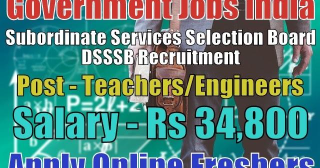 dsssb-recruitment-2019  Th P Govt Job Online Form In Delhi on
