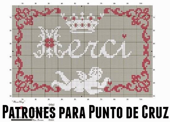 patrones punto de cruz, graficos de punto de cruz, moldes punto de cruz