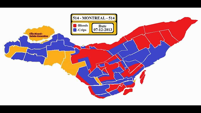 Montreal 514 Bloods Crips territories