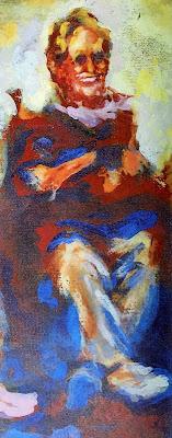 Sher Stewart painting of Deborah Cunningham