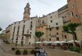 Plaza del Ayutamiento de Bocairent, provincia de Valencia.
