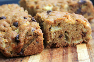 Easy apple chocolate chip cake with walnuts
