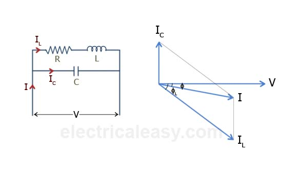 how to draw phasor diagram of transformer 12 volt trolling motor wiring causes low power factor and it's correction (pf improvement)   electricaleasy.com