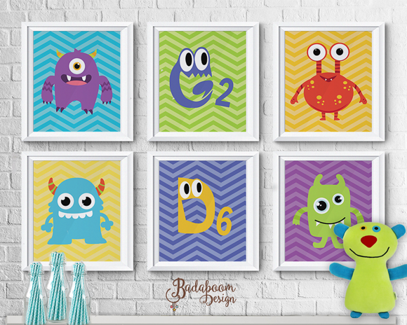 Monstrinhos, Monstros, Monsters, Pôster, Poster, Posteres, Posters, quadro, quadrinhos, festa, infantil, arte digital, personalizada