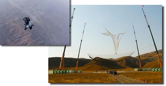 Homem salta sem paraquedas de mais de 7 quilômetros de altura