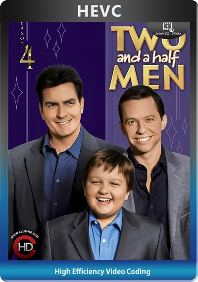 Two And Half Men (2006) S04 1080p AMZN WEB-DL Dual Latino-Inglés [HEVC-10bit] [Subt. Esp] (Serie De TV. Comedia)