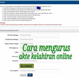 Cara mengurus akta kelahiran online