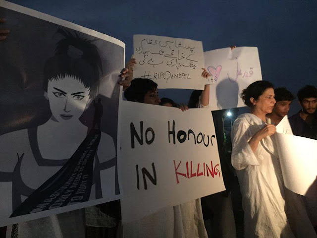 Say no to Honor Killing A Protest for Qandeel Baloch Sacrifies