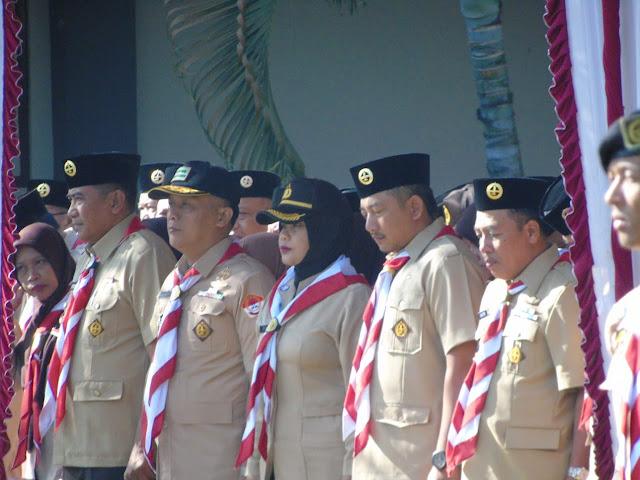 Kepala Staf Kodim 0727/Karanganyar Mayor inf Suwarko turut menghadiri Upacara
