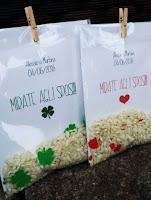bustine personalizzate porta riso matrimonio
