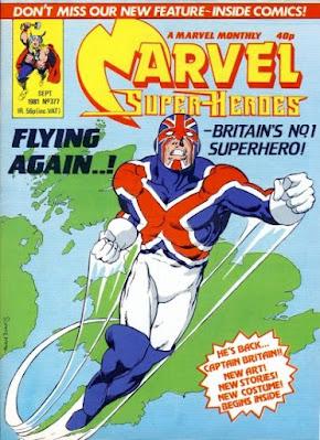 Marvel Super-Heroes #377, the return of Captain Britain