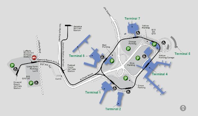 mapa aeropuerto JFK de nueva york