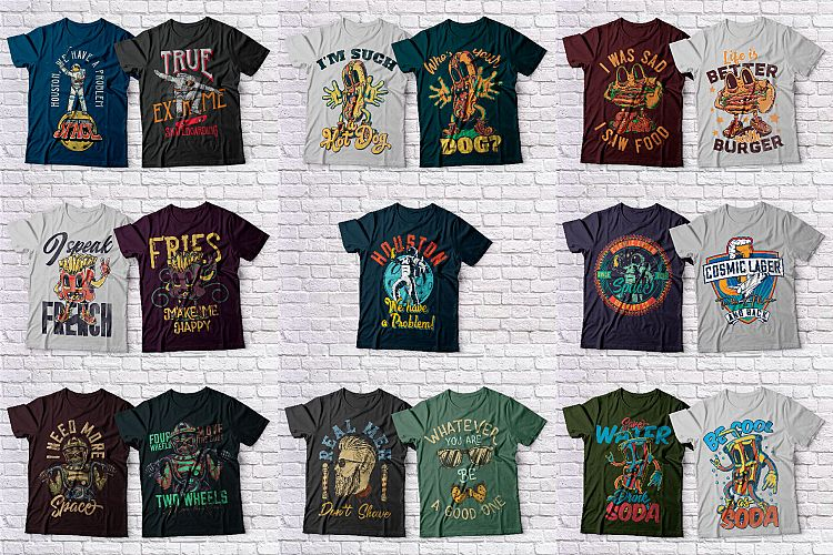 Download T-Shirt Designs Collection, 100 Designs