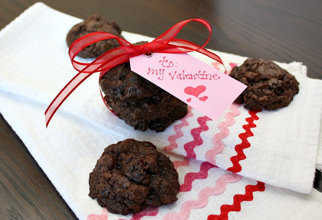 quadruple chocolate cherry cookies