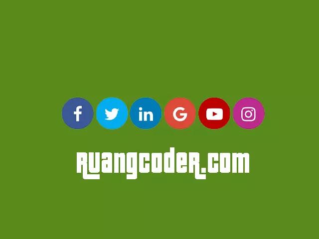Menambahkan Icon Sosial Media di Sidebar