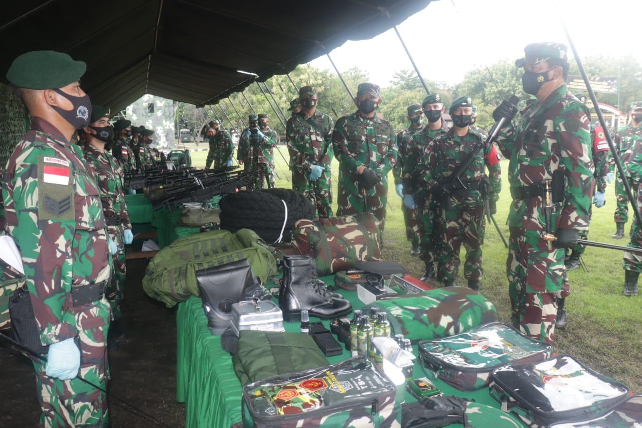 Panglima TNI Cek Kesiapan Satgas Yonif Para Raider 501 Kostrad di Madiun