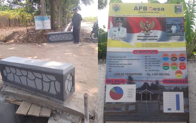 Pembangunan Infrastruktur di Desa Gunung Pasir Jaya Kecamatan Sekampung Udik