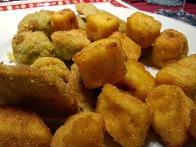 verdurine fritte e gnocchetti di crema