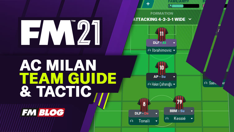 Football Manager 2021 AC Milan Team Guide Tactic FM21