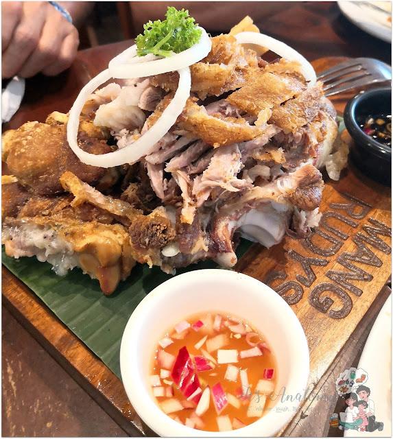Crispy Pata Mang Rudy's Tuna Grill & Papaitan at Circuit Makati