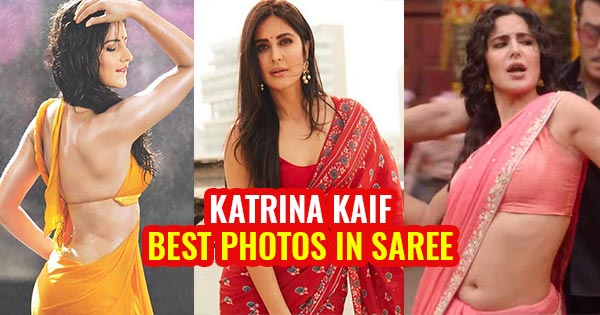 katrina kaif best beautiful in low waist saree navel midriff