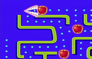 The game is a variation of the popular video game Pac Man. Teeth eat 4 apples. Sesame Street Elmo's World Teeth Elmo's Question