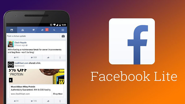 تطبيق فيس بوك لايت Facebook Lite بديل فيس بوك لتوفيراستهلاك البطارية وإستهلاك باقة الانترنت{featured}