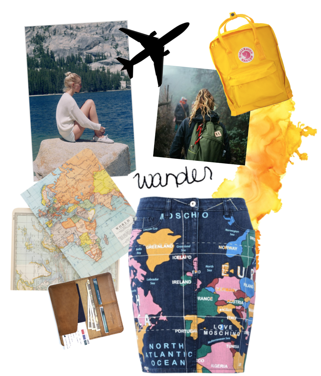 wanderlust and Moschino skirts, mapping your way through fashion