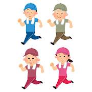 いろいろなジョギングをする人のイラスト(帽子付き)