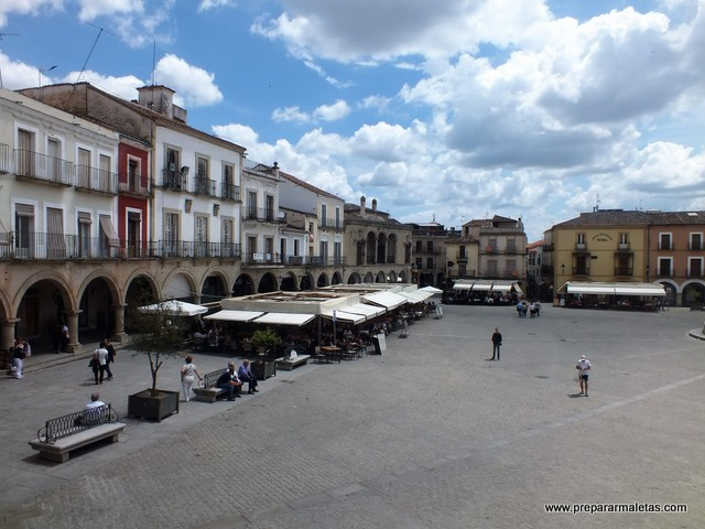 plaza mayor en Trujillo