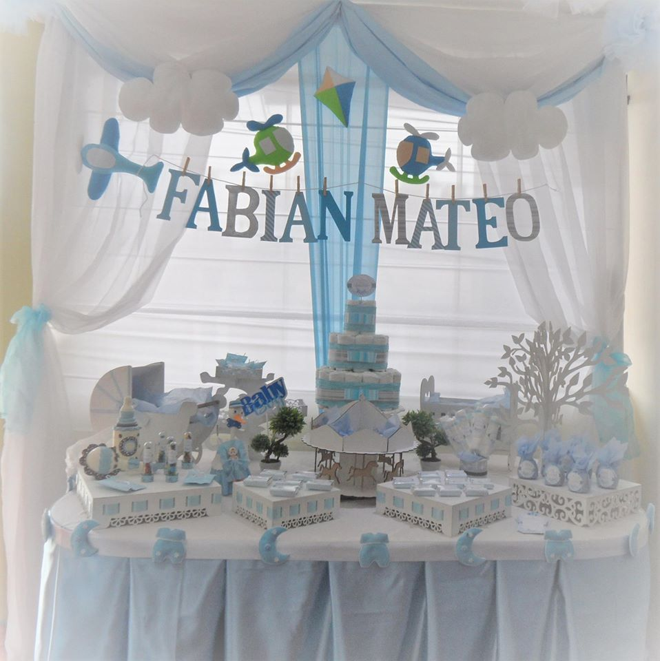 "Decoracin para Baby Shower nio ""Fabian Mateo"" - Baby Shower"