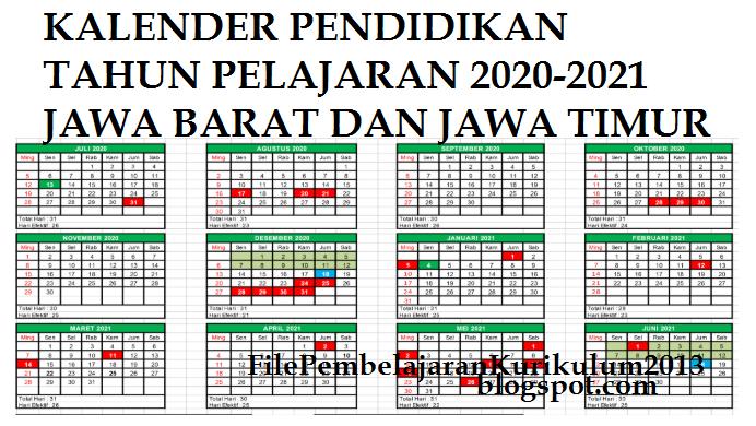 Kaldik Jabar dan Jatim Tahun Pelajaran 2020-2021   File ...