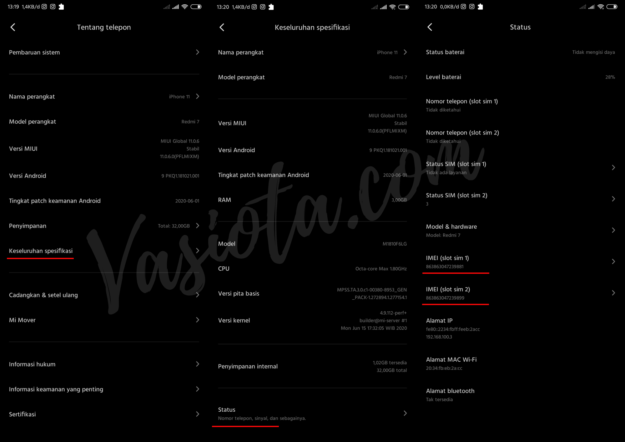 Cara Cek IMEI Xiaomi Asli Atau Palsu