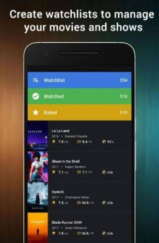 Cine Trak: Your Movie Diary, gestisci la tua personale lista di film da vedere in streaming.