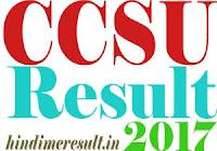 सीसीएस यूनिवर्सिटी परिणाम 2017 UG/PG