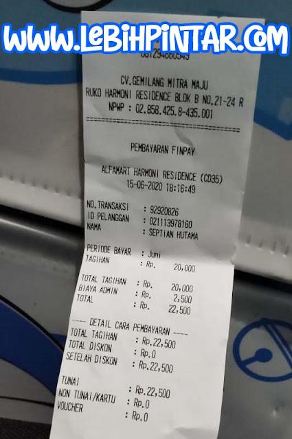 cara pembelian dan pembayaran telkomsel orbit di alfamart
